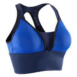 Sportbeha 120 voor cardiofitness blauw