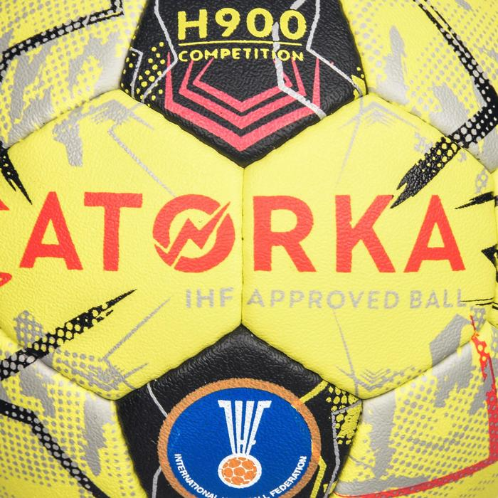 Handbal H900 IHF maat 2 geel/grijs