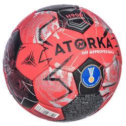 Ballon de handball adulte H900 IHF Taille 3 rouge / noir