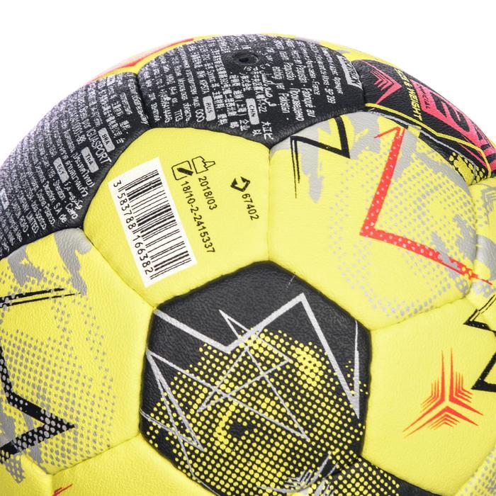 Handball H900 IHF Größe 2 gelb/grau