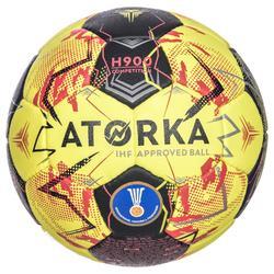 Ballon de handball adulte H900 IHF Taille 3 jaune / rouge