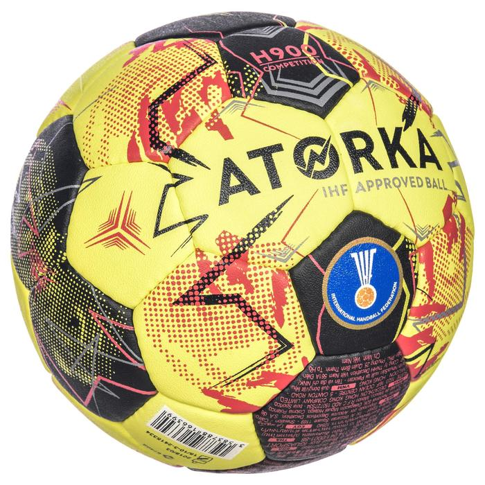Handbal H900 IHF maat 3 geel/rood