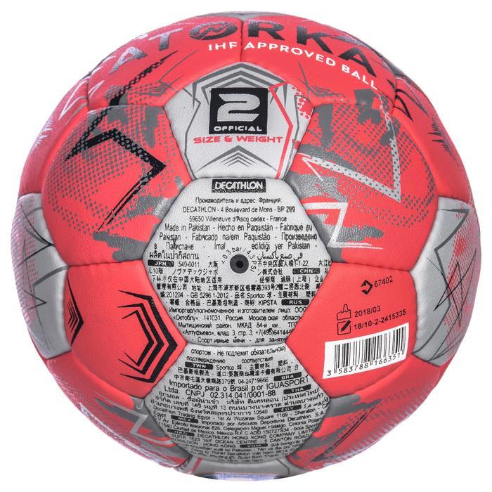 Handbal H900 IHF maat 2 roze/grijs