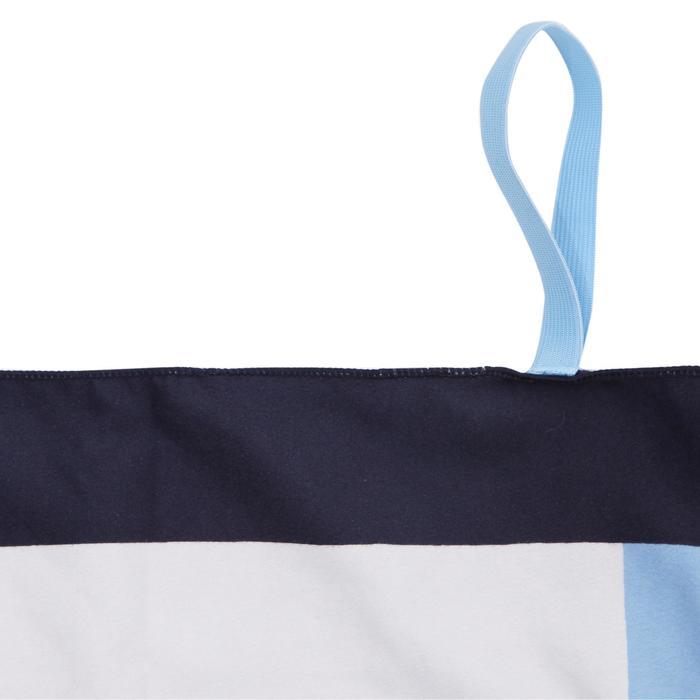 印花微纖維毛巾,L號藍色