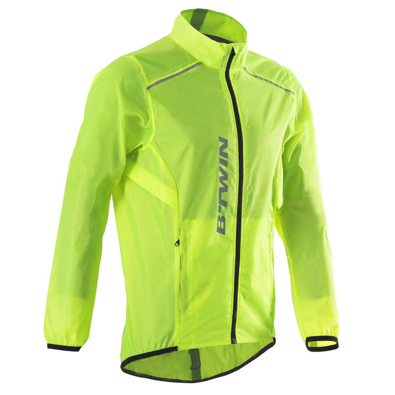 ÎMBRĂCĂMINTE CICLISM ȘOSEA VREME PLOIOASĂ BĂRBAȚI Ciclism - Jachetă ploaie ciclism 100  BTWIN - Imbracaminte ciclism