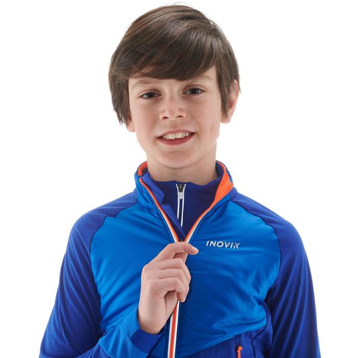 Langlaufjacke warm XC S 550 Kinder blau