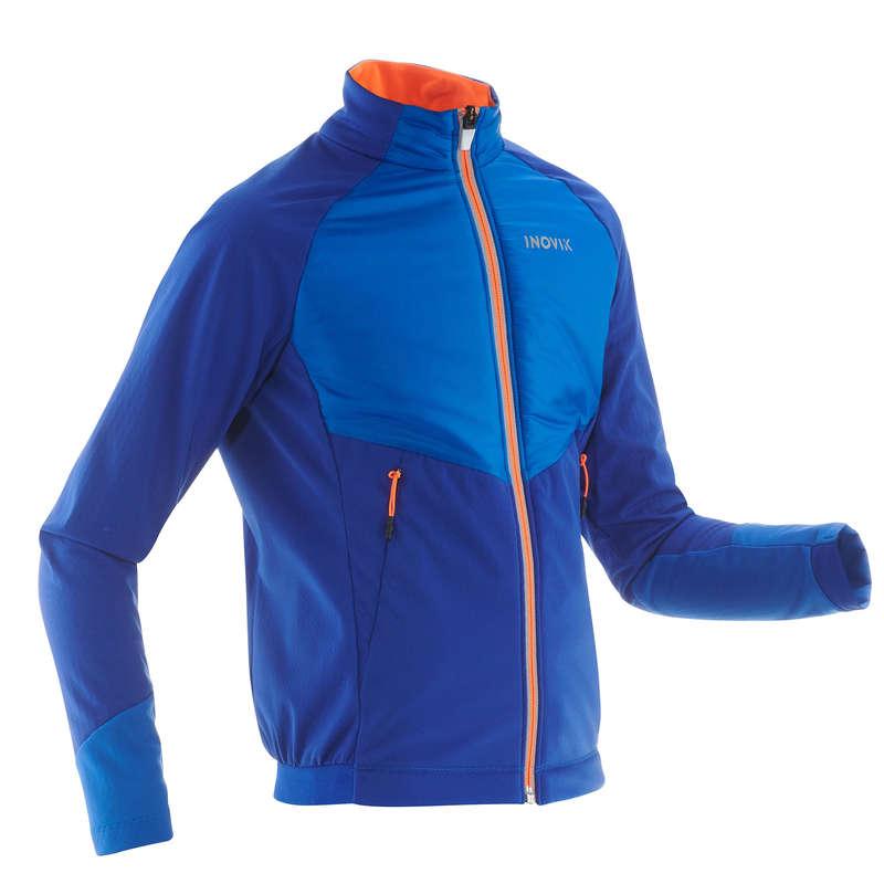 JUNIOR CROSS COUNTRY SKI CLOTHING Cross-Country Skiing - XC S 550 WARM BOY'S JKT-Blue INOVIK - Cross-Country Skiing