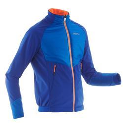 Chaqueta cálida de esquí de fondo niño XC S JKT 550 azul