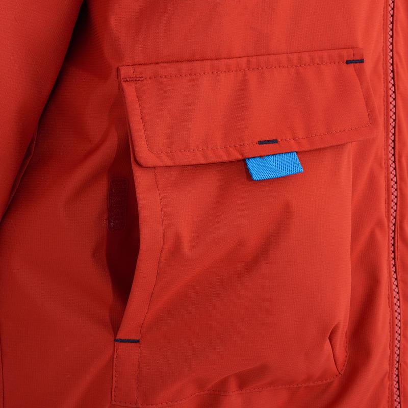 Veste randonnée Arpenaz 400 Warm Reversible Garçon Rouge