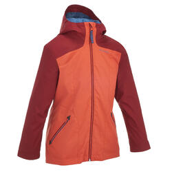 Warme en waterdichte 3-in-1 meisjesjas voor trekking Hike 500 - 135156