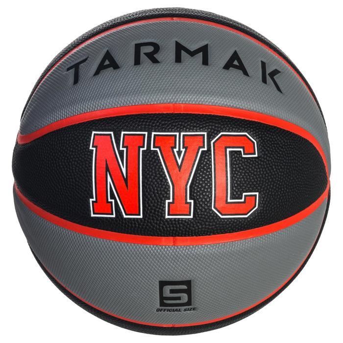 Ballon de basket enfant Wizzy NYC noir gris taille 5.