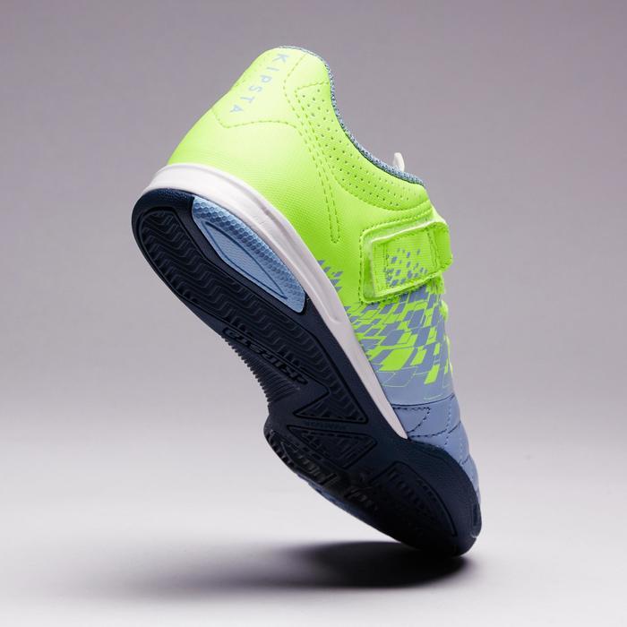 Chaussure de futsal enfant Agility 500 bleue à scratch - 1351579