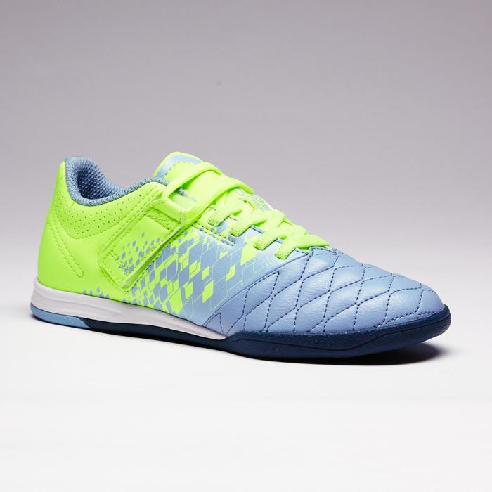 Chaussure de futsal enfant Agility 500 bleue à scratch - 1351580