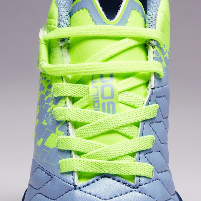 Chaussure de futsal enfant Agility 500 bleue à scratch - 1351581