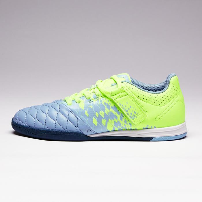 Chaussure de futsal enfant Agility 500 bleue à scratch - 1351584