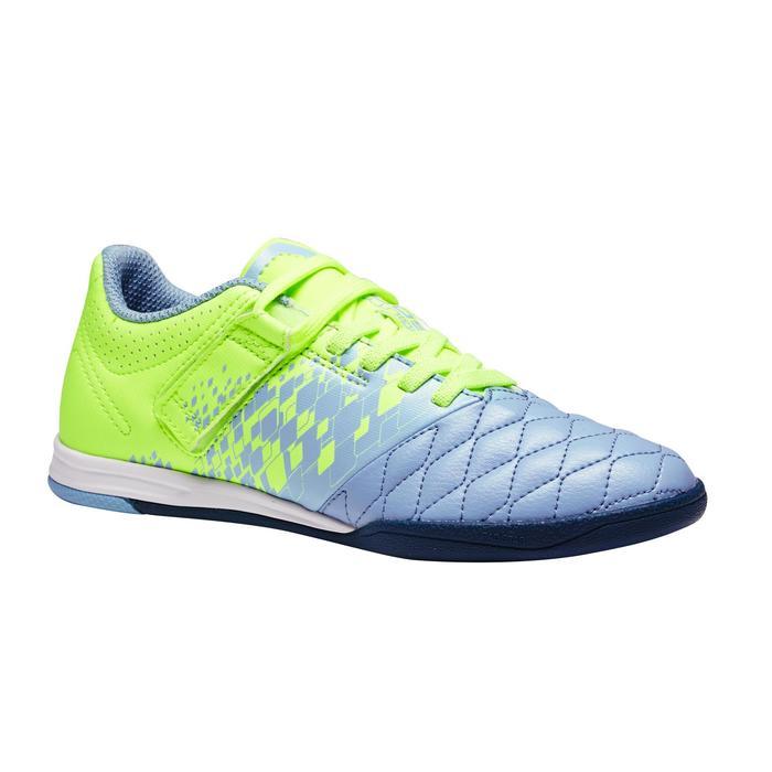 Chaussure de futsal enfant Agility 500 bleue à scratch - 1351585