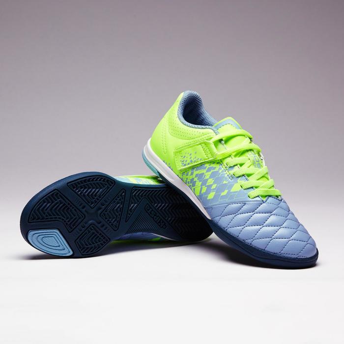 Chaussure de futsal enfant Agility 500 bleue à scratch - 1351586