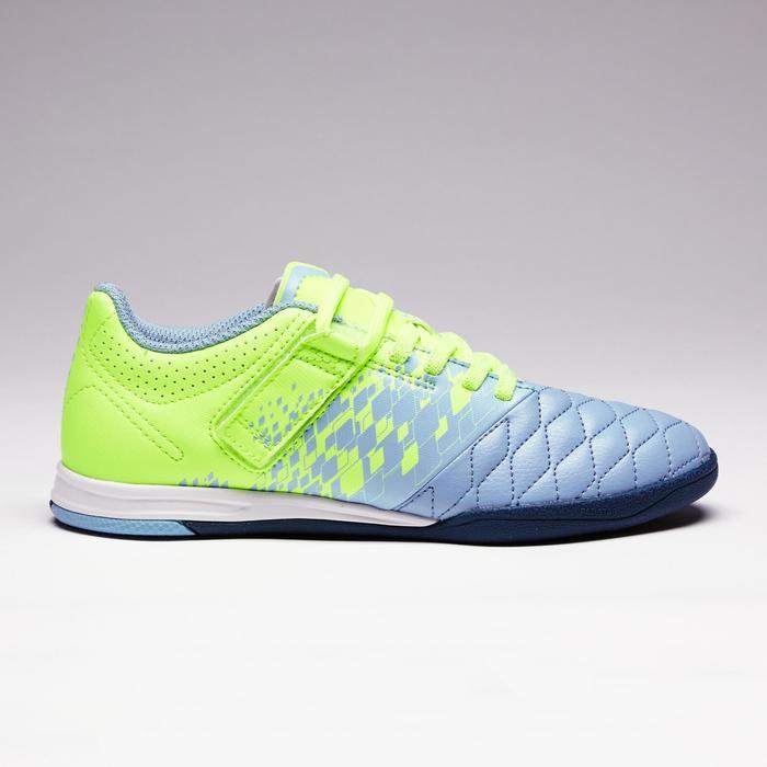 Chaussure de futsal enfant Agility 500 bleue à scratch - 1351587