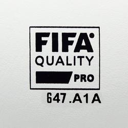 Balón de Fútbol Sala Kipsta 900 63 cm blanco y gris