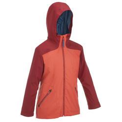 Warme en waterdichte 3-in-1 meisjesjas voor trekking Hike 500 - 135162