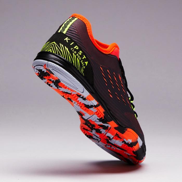 Chaussure de futsal enfant CLR 900 noire orange - 1351629