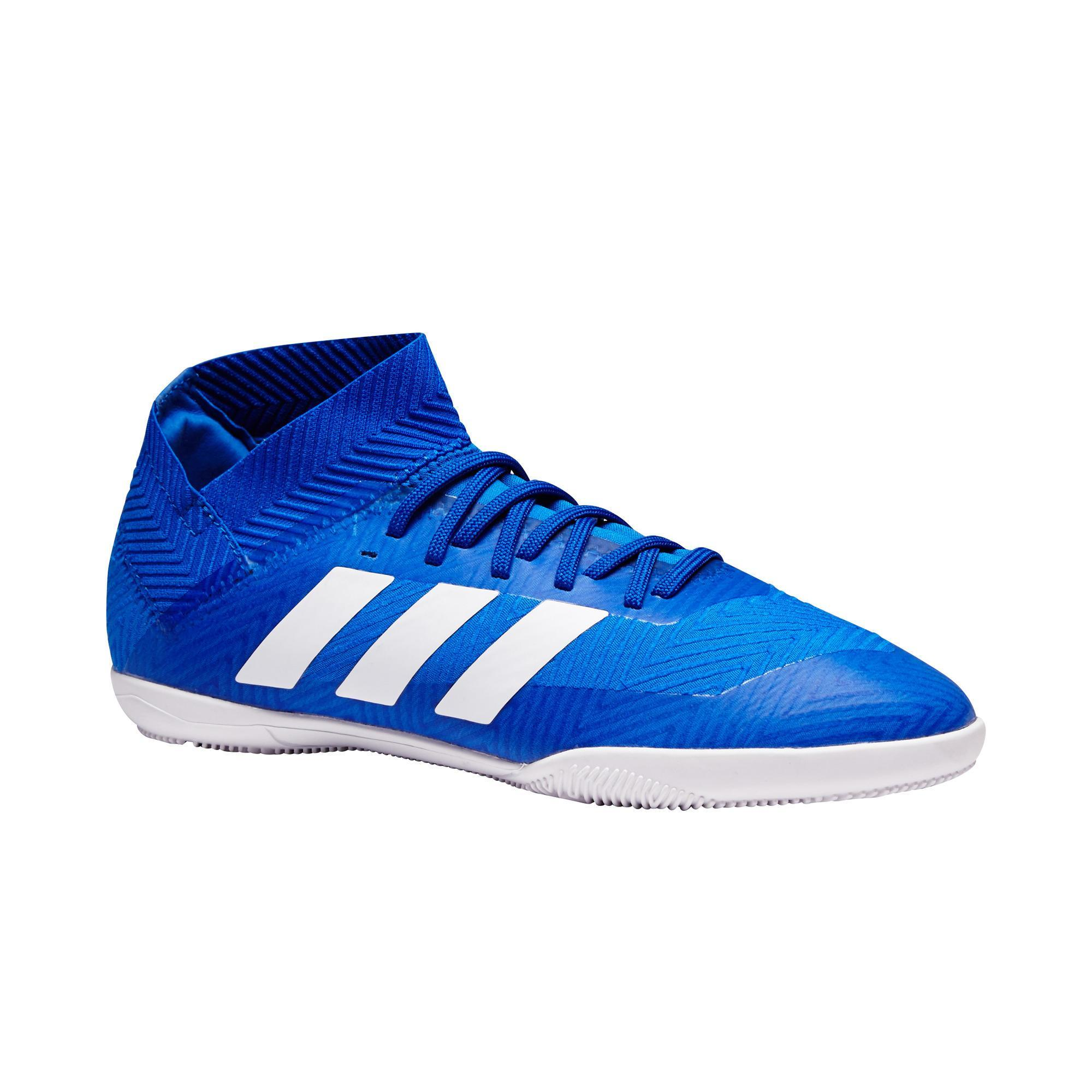 Adidas Zaalvoetbalschoenen kind Nemeziz Tango 18.3 sala blauw/wit