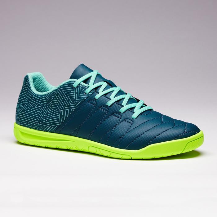 Chaussure de futsal enfant CLR 500 verte bleu