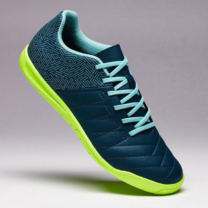 Zaalvoetbalschoenen kind CLR 500 sala groen/blauw