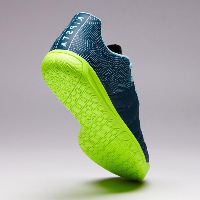 Chaussure de futsal enfant CLR 500 bleue jaune - 1351704