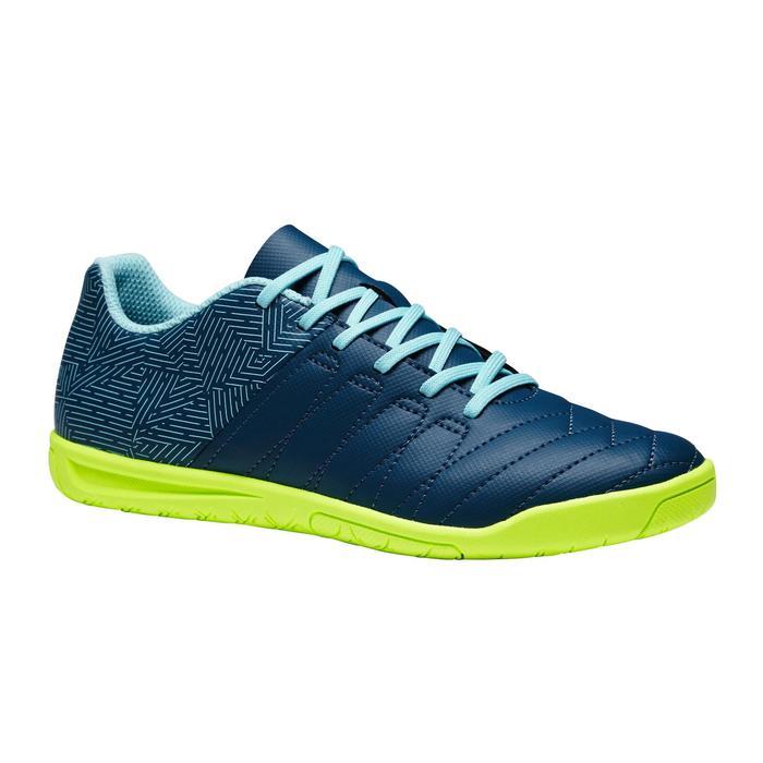Chaussure de futsal enfant CLR 500 bleue jaune - 1351707
