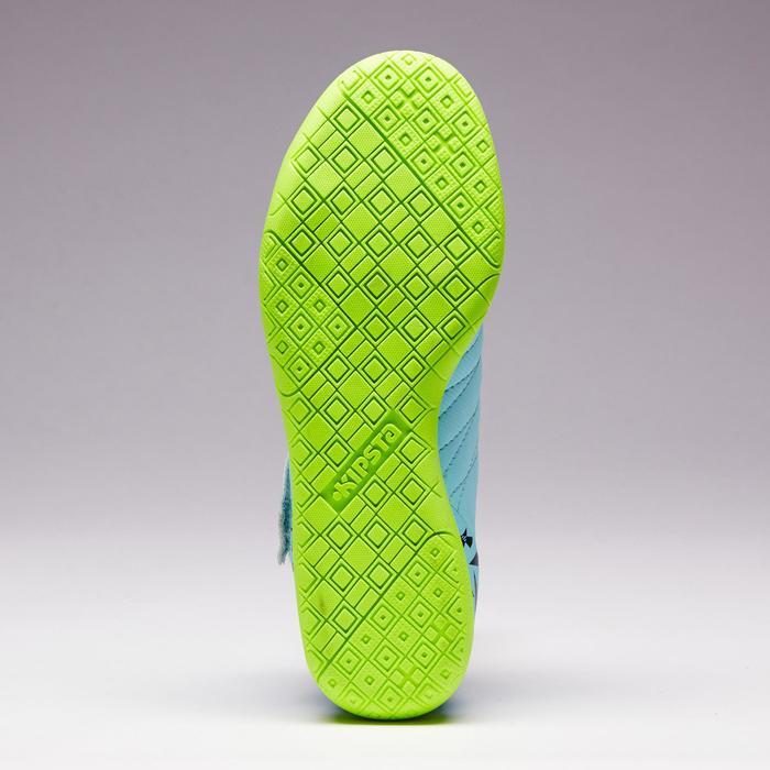 Zaalvoetbalschoenen voor kinderen CLR 500 klittenband groen