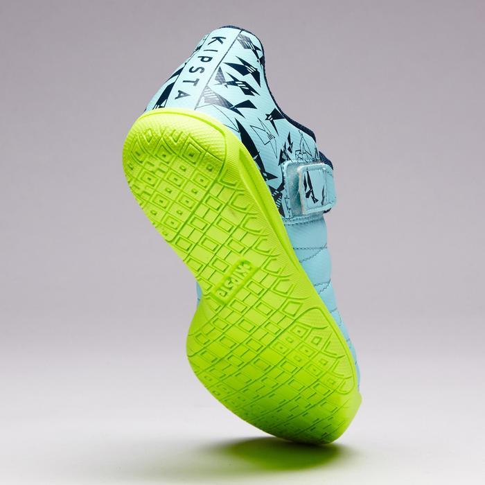 Chaussure de futsal enfant CLR 500 à scratch bleue - 1351710