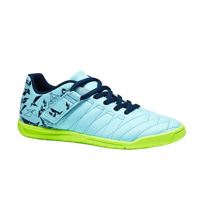 Chaussure de futsal enfant CLR 500 à scratch bleue - 1351712