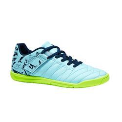 Zapatillas de fútbol sala niños CLR 500 tira autoadherente verde
