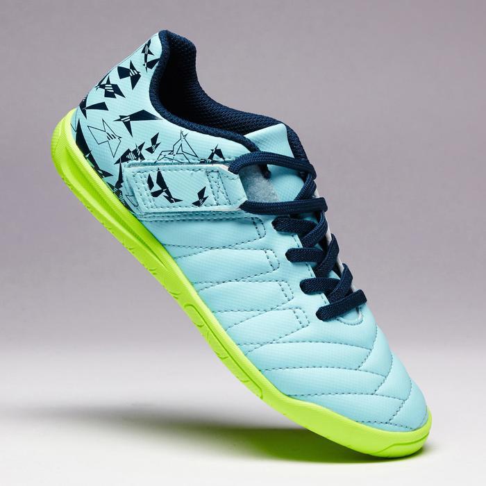 Chaussure de futsal enfant CLR 500 à scratch bleue - 1351714