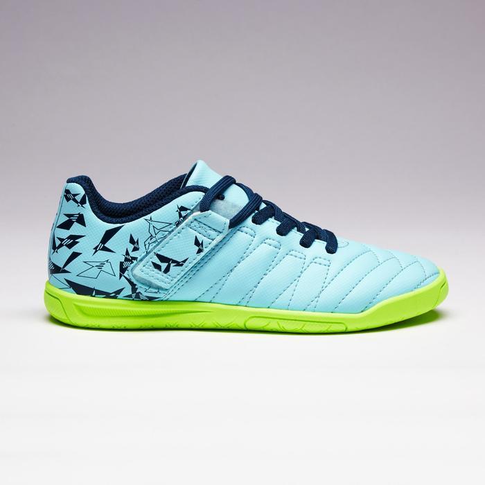 Chaussure de futsal enfant CLR 500 à scratch bleue - 1351715