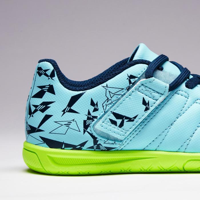 Chaussure de futsal enfant CLR 500 à scratch bleue - 1351717