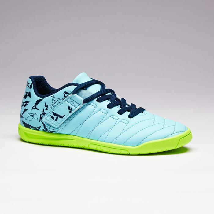 Chaussure de futsal enfant CLR 500 à scratch bleue - 1351718