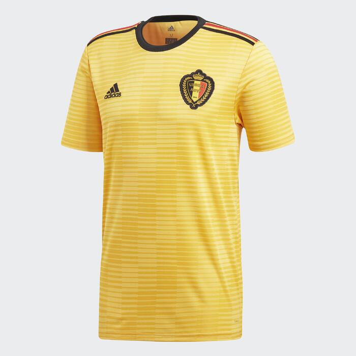 Voetbalshirt voor volwassenen, replica uitshirt België 2018
