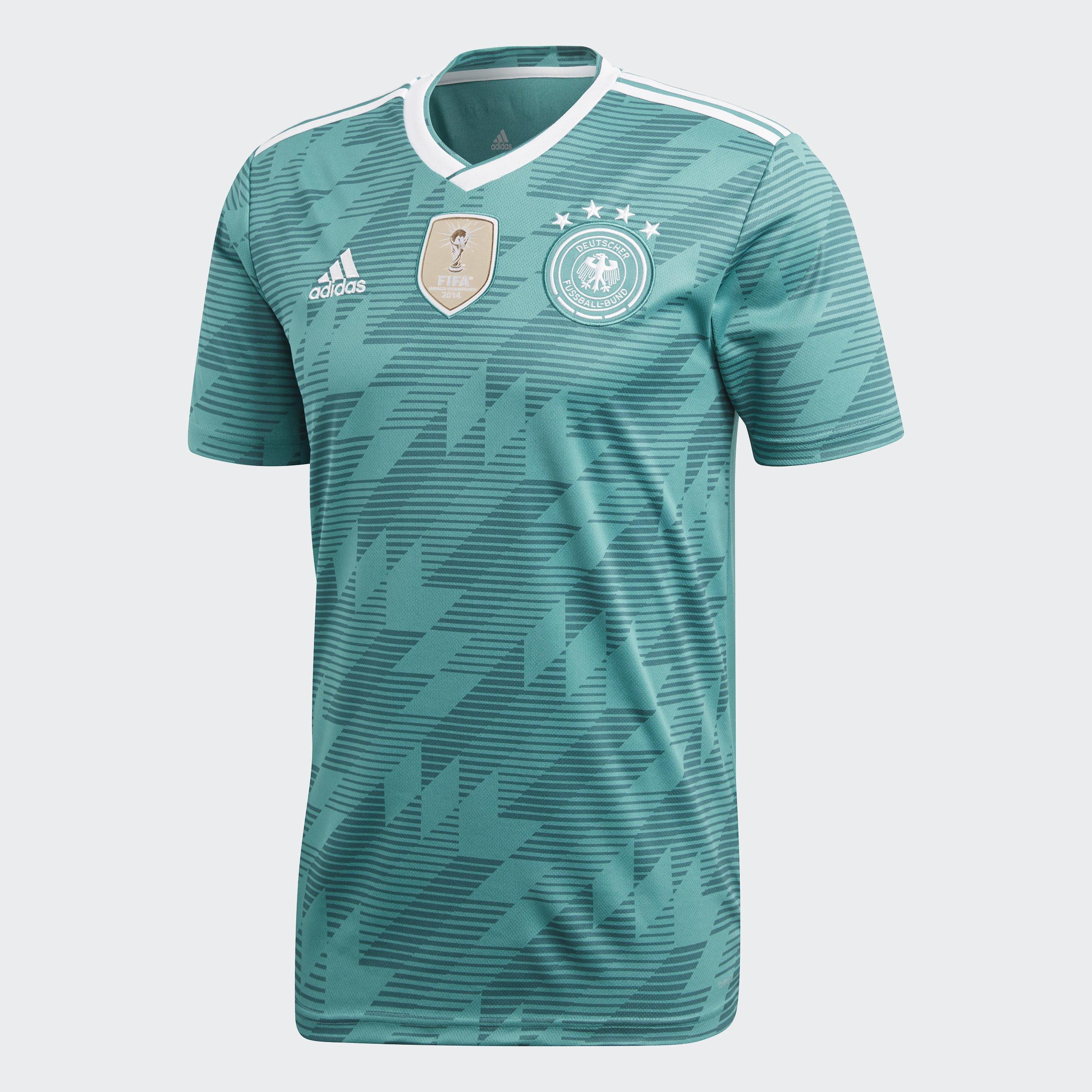 Adidas Voetbalshirt Duitsland uitshirt WK 2018 voor volwassenen groen