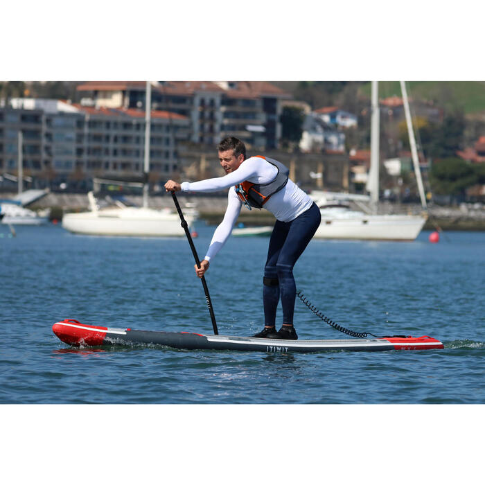 "STAND UP PADDLE GONFLABLE RANDONNEE COURSE 500 / 12'6-26"" ROUGE - 1351849"