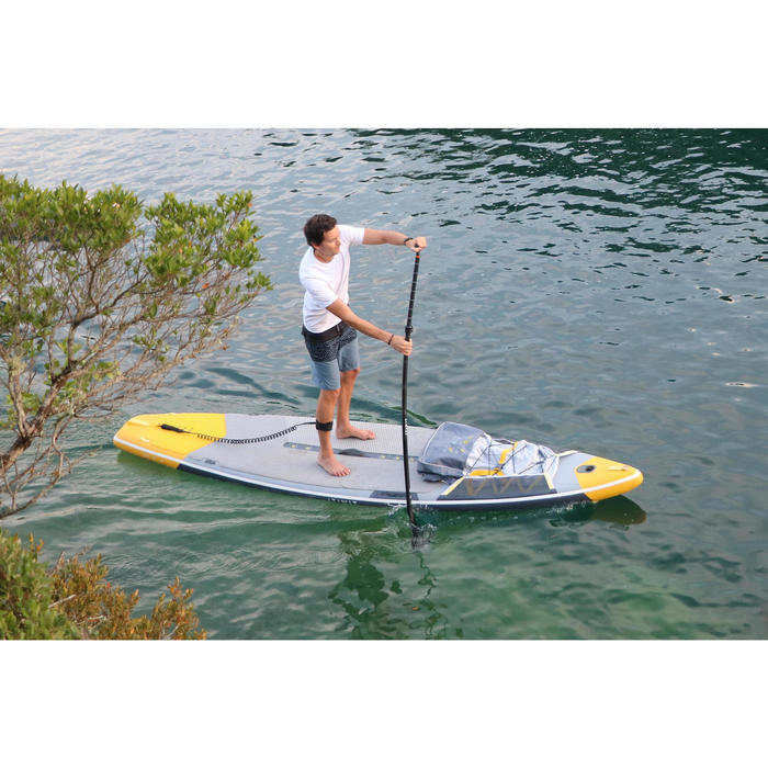 "STAND UP PADDLE GONFLABLE RANDONNEE COURSE 500 / 12'6-32"" JAUNE - 1351859"