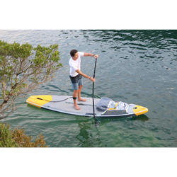 """Tabla De Stand Up Paddle Hinchable de Travesía 500 Itiwit / 12'6-32"""" Amarilla"""