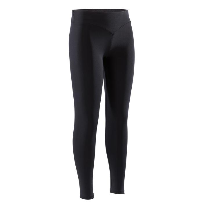 Legging de gymnastique artistique féminine noir sequins - 1351869