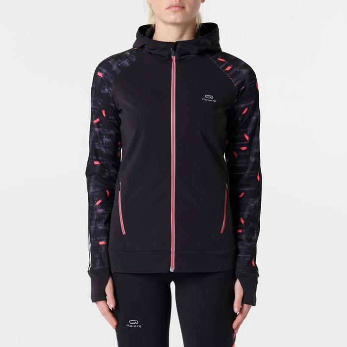 Dameshoodie voor hardlopen Run Warm Hood rood
