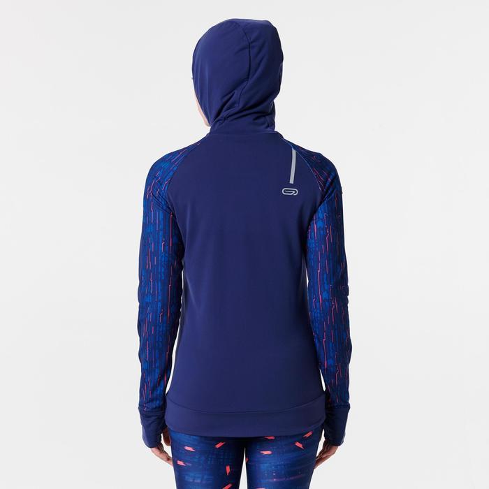 Laufjacke Warm Hood Run Damen marineblau