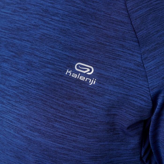 Hoodie met lange mouwen jogging dames Run Warm marineblauw