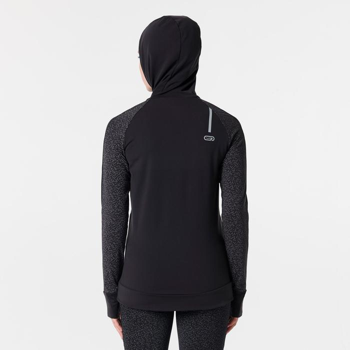 RUN WARM NIGHT WOMEN'S JOGGING JACKET BLACK PRINT - 1351931