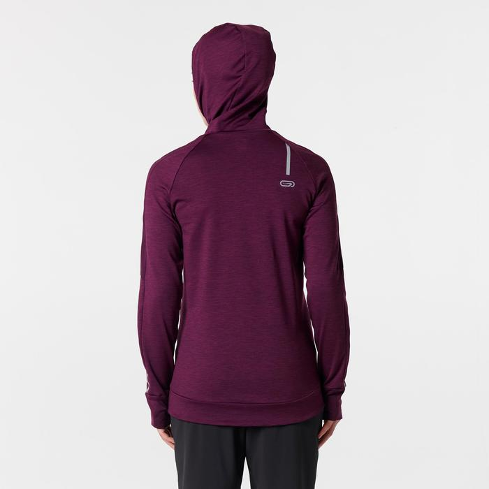 Run Warm Women's Running Long-Sleeved Jersey Hood - Burgundy
