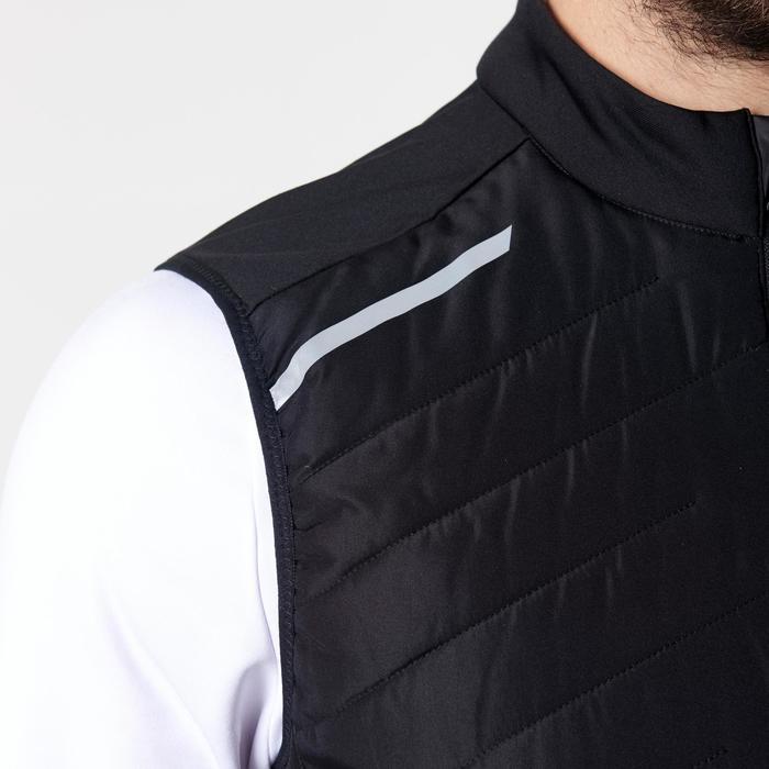 男款跑步無袖外套RUN WARM+ - 黑色